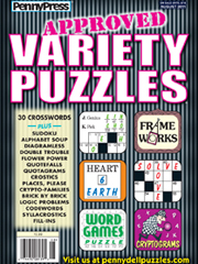Approved Variety Puzzles magazine