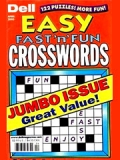 DELL'S BEST EASY FAST'N FUN CROSSWORDS magazine